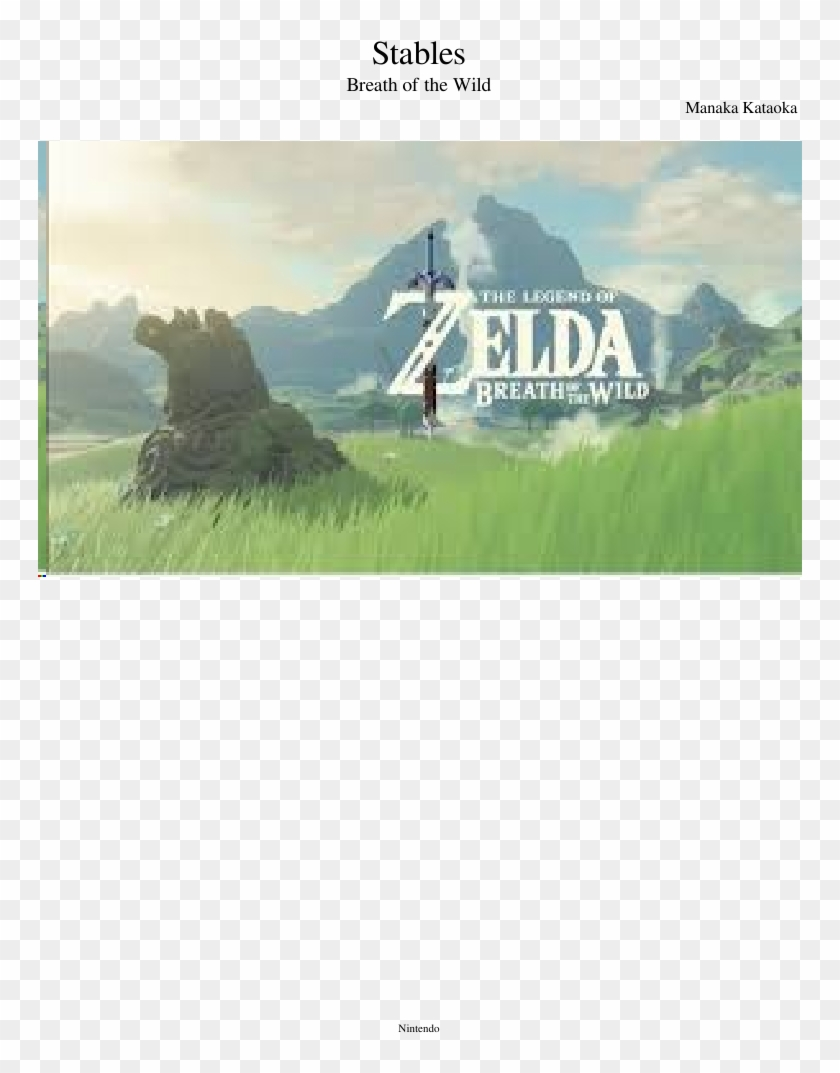 Stables Sheet Music Composed By Manaka Kataoka 1 Of Legend Of Zelda Breath Of The Wild Hd Png Download 850x1100 1698667 Pngfind