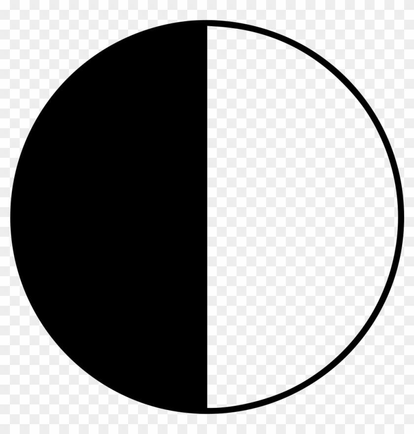 Png File Svg Half Black Half White Circle Transparent Png