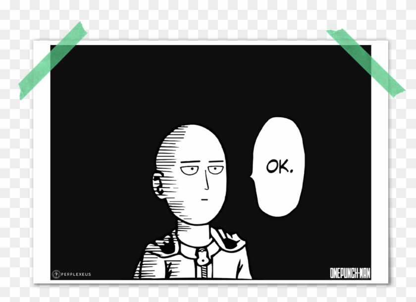 One Punch Man Saitama Simple Black White Manga Style One Punch Man Ok Hd Png Download 1080x1080 176107 Pngfind Follows the life of an average hero who manages to win all battles with only one punch. one punch man ok hd png download