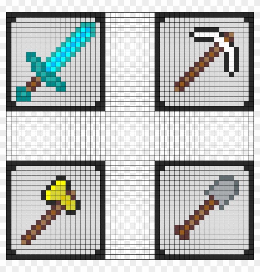 Minecraft Coaster Pt 1 Perler Bead Pattern Fuse Beads