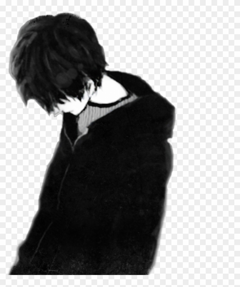 Sad Boy Black Only Me Anime Boy Depression Drawings Of A Boy Hd Png Download 801x927 1711005 Pngfind