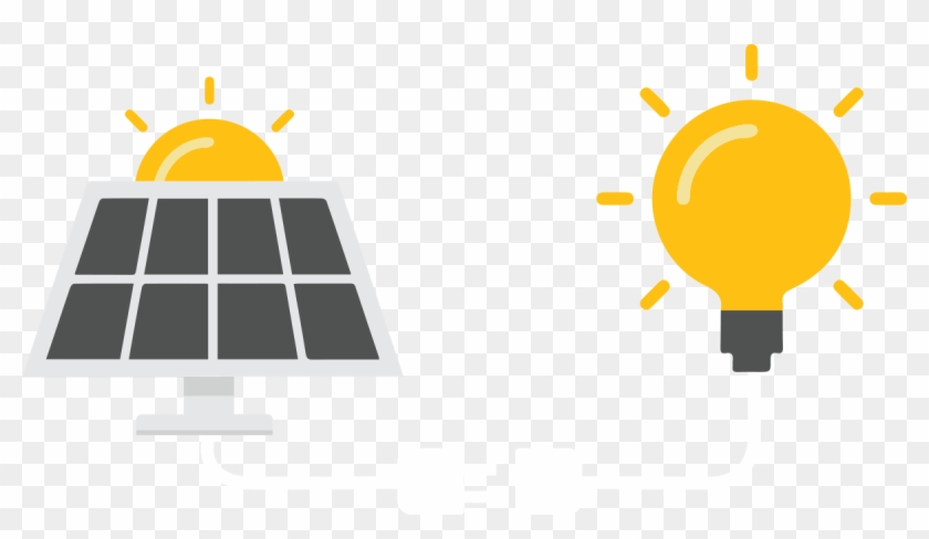 Incandescent Light Bulb Computer Icons Idea - Solar Panel Icon, HD
