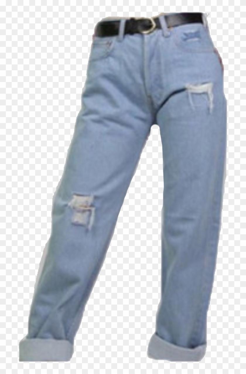 Jeans Belt Clothing Png Aesthetic Blue Scrunchies Vintage