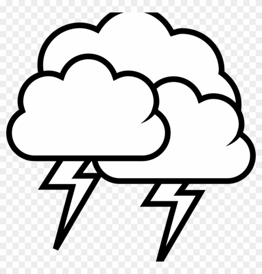 Cloud drawing. Clipart black and white