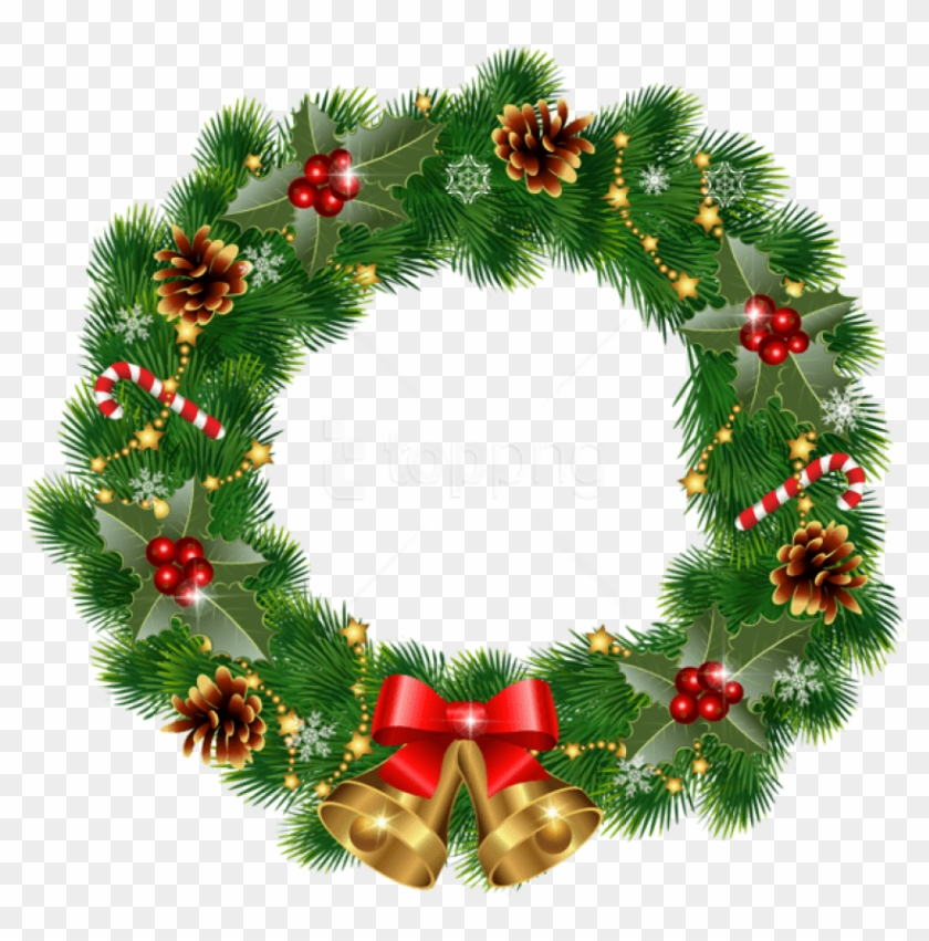 Free christmas wreath. Png with bells images