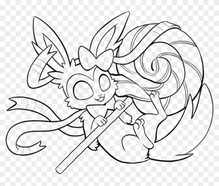 Pokemon Coloring Pages Sylveon All Eevee Evolutions Sylveon Coloring Pages Hd Png Download 1095x730 1745834 Pngfind