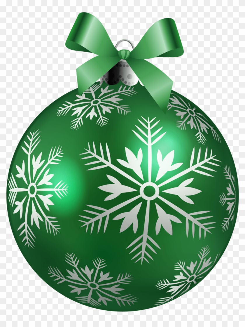 Green Christmas Ornament Balls Clip Art Green Christmas