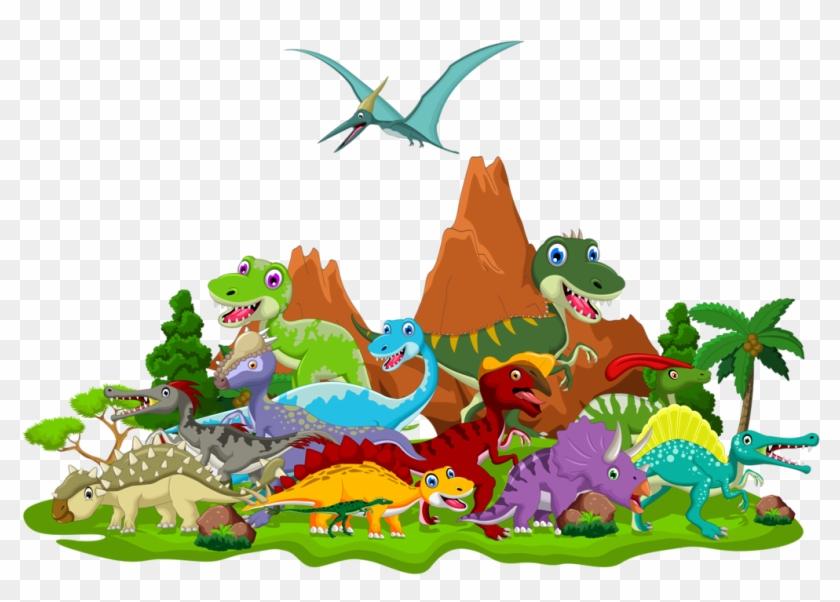 Dinosaur Clipart Landscape Cartoon Dinosaur Pictures Png