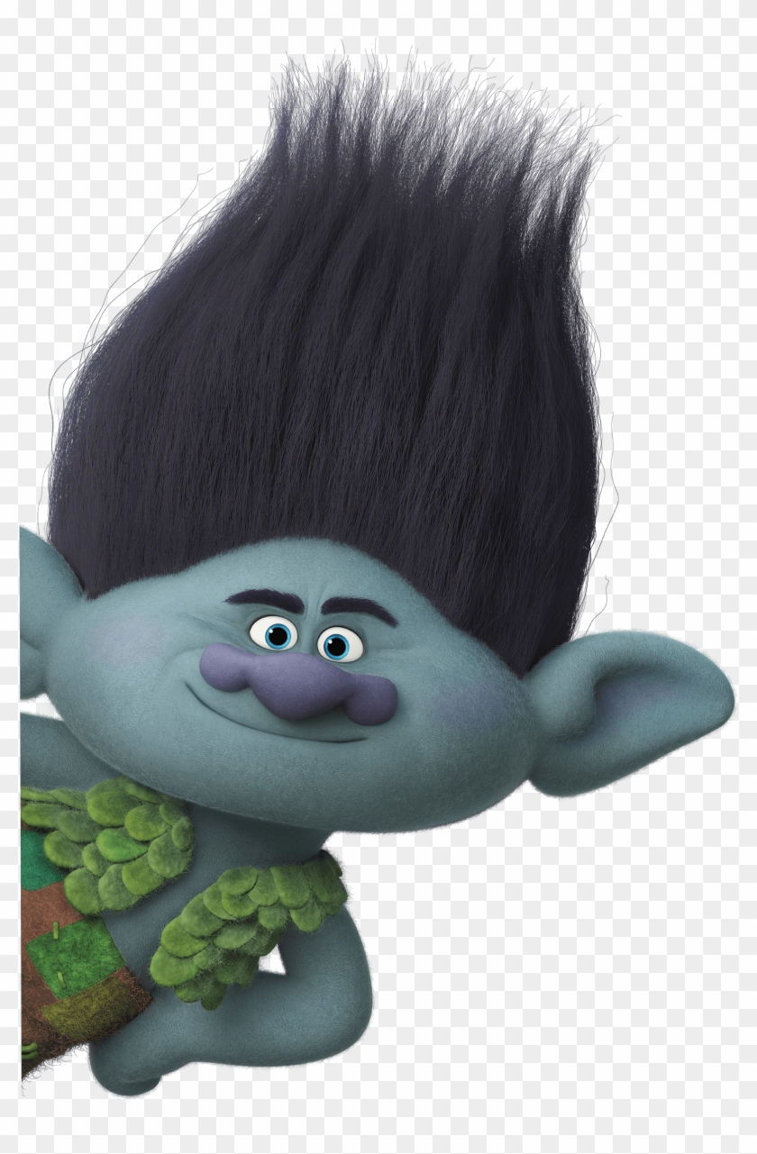 Branch Trolls Characters Black Haired Cartoon Characters Hd Png