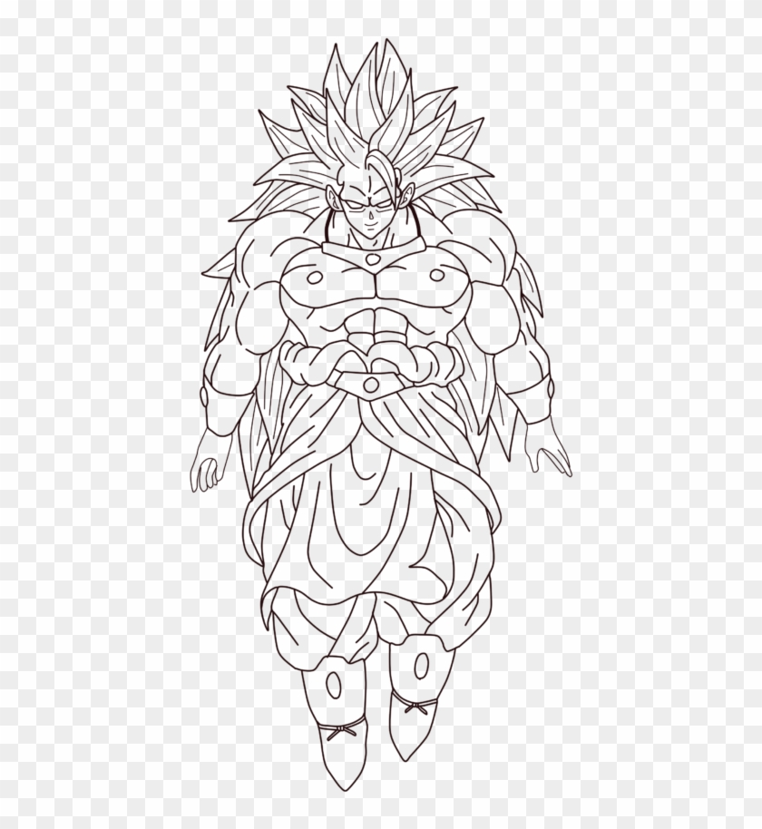 Broly Drawing Coloring Page Pages Line Art Hd Png Download 1024x858 1774436 Pngfind