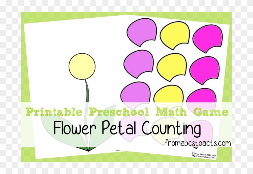 image regarding Preschool Math Games Printable named Printable Preschool Math Video games - Flower Functions Preschool