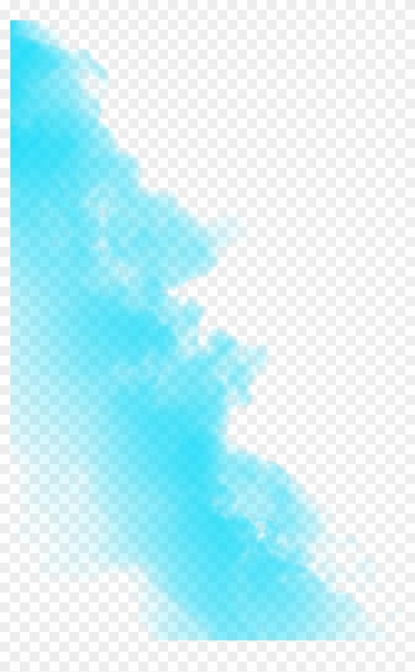 Sky Blue Smoke Png