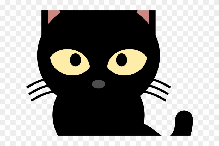 Black Cat Clipart Face Cute Black Cat Clipart Hd Png Download