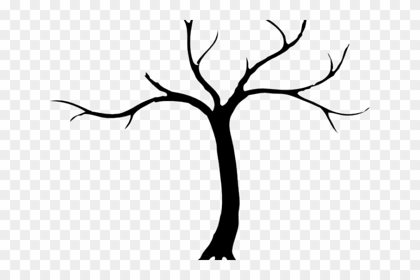 Tree dead. Clipart silhouette png transparent