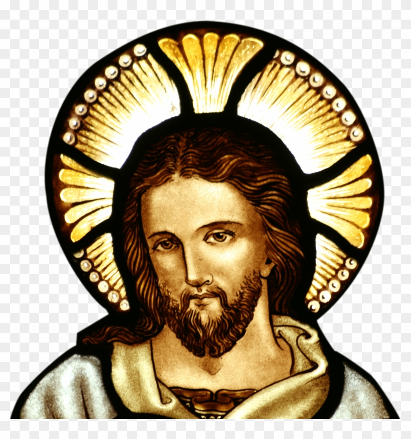 Jesus Stained Glass Jesus Christ Hd Png Download 2478x2529