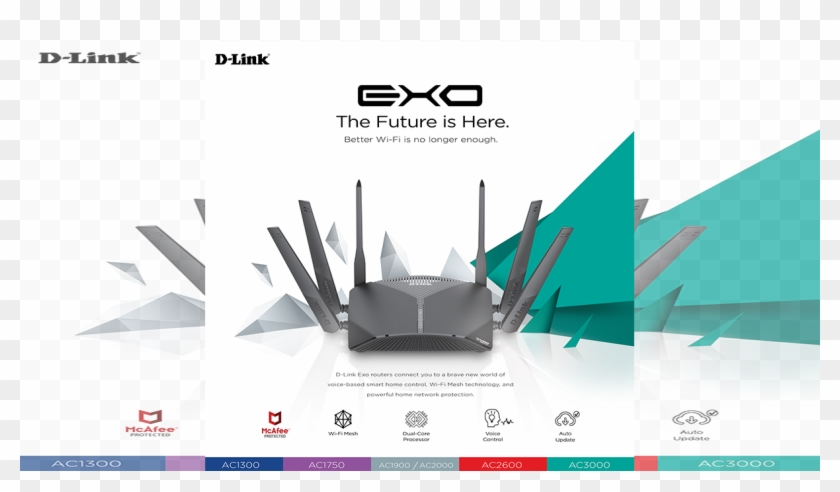 D-link's New Exo Router Series Comes With Mcafee Protection