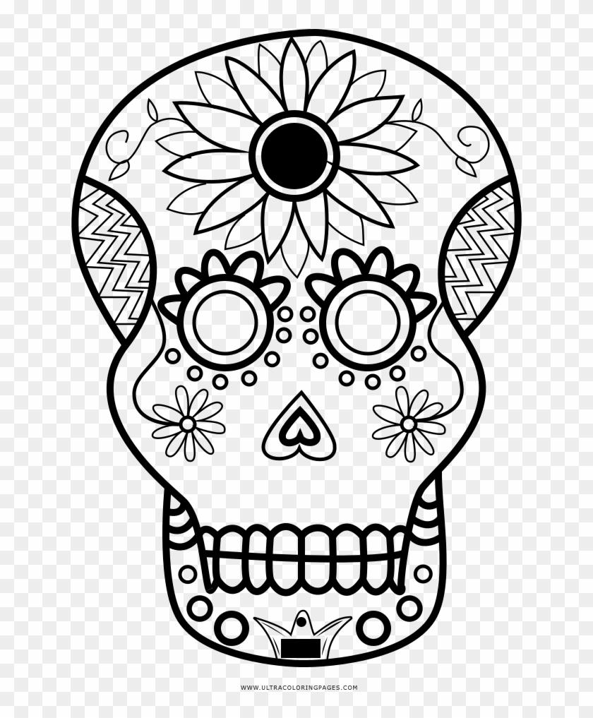 Sugar Skull Coloring Page - Dibujos De Craneos Para Colorear, HD ...