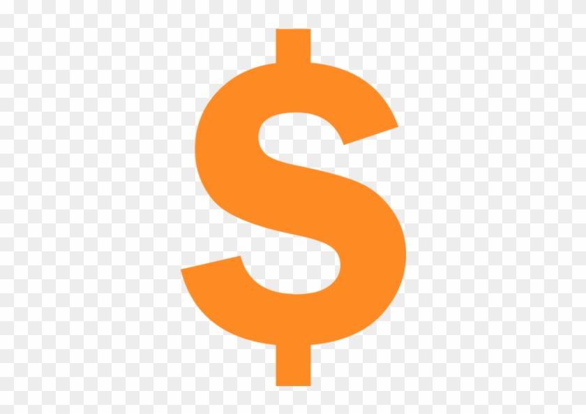 Dollar Sign - Orange Dollar Sign Png, Transparent Png