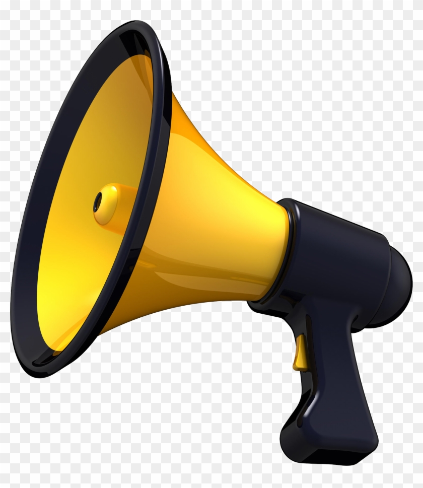 Megaphone yellow. Clipart hd png download
