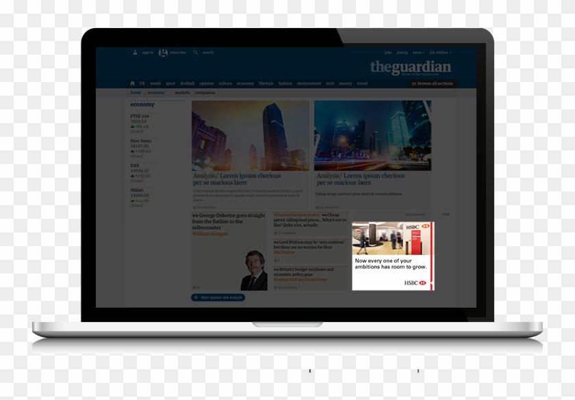 Laptop Hsbc Web - Website, HD Png Download - 800x546