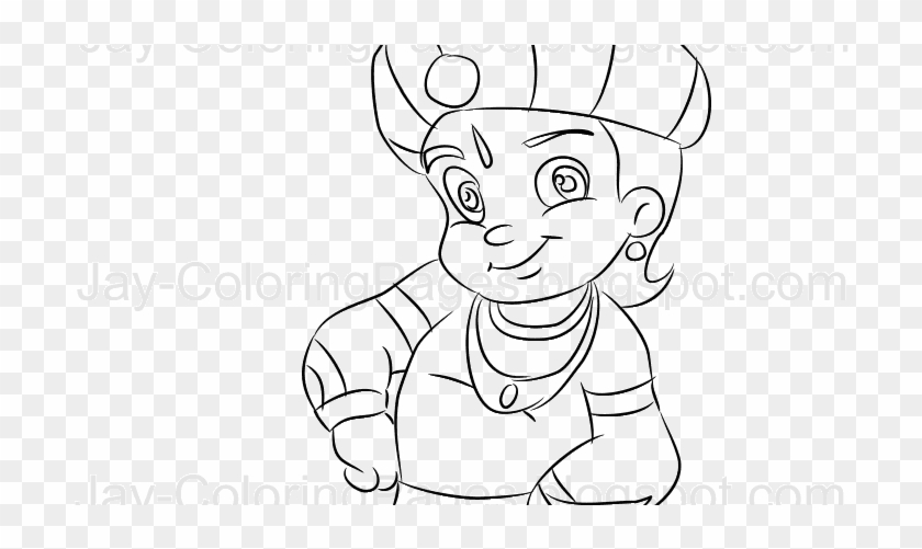 Jayline Art Coloring Pages Pencil Drawings Gallery Chota Bheem