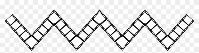 Filmstrip Zigzag Drawing - Zig Zag Strip, HD Png Download