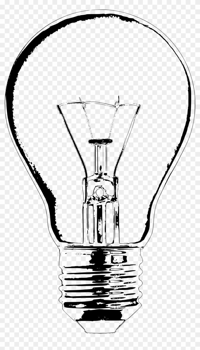 Clipart Lightbulb Lampada Preto E Branco Hd Png Download