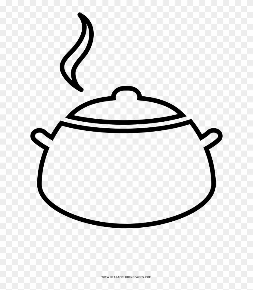Cooking Pot Coloring Page Desenhos Panela Png Transparent Png