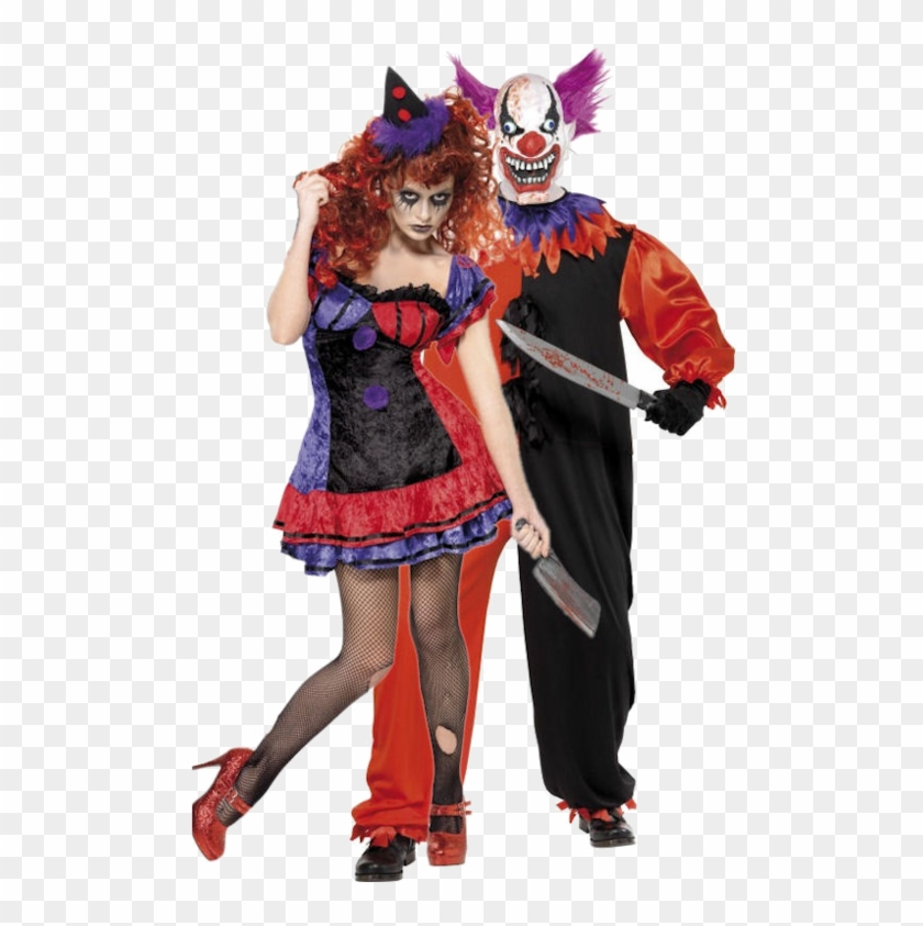 8cb590a904c51 Scary Couple Clown Costumes Sc 1 St Meningrey - Clown Couple Halloween  Costume, HD Png