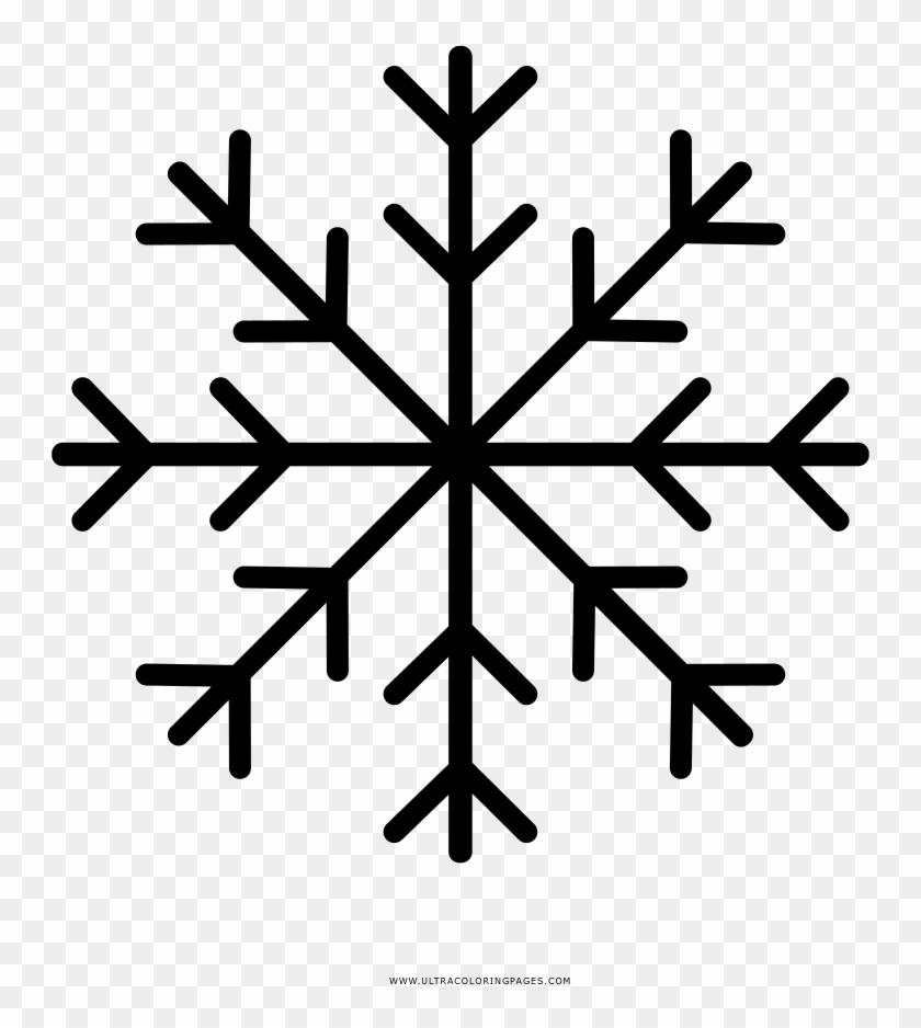 Copos De Nieve Página Para Colorear Hd Png Download
