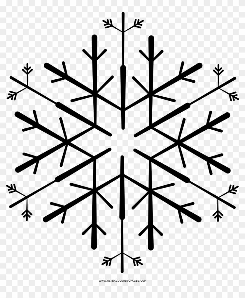 Copo De Nieve Página Para Colorear Snowflake Hd Png Download