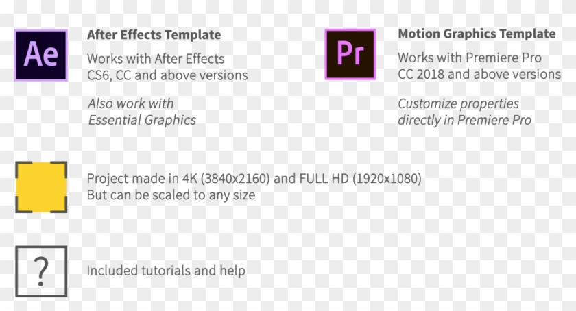 Shape And Motion Animated Elements Pack - Adobe Premiere Pro, HD Png