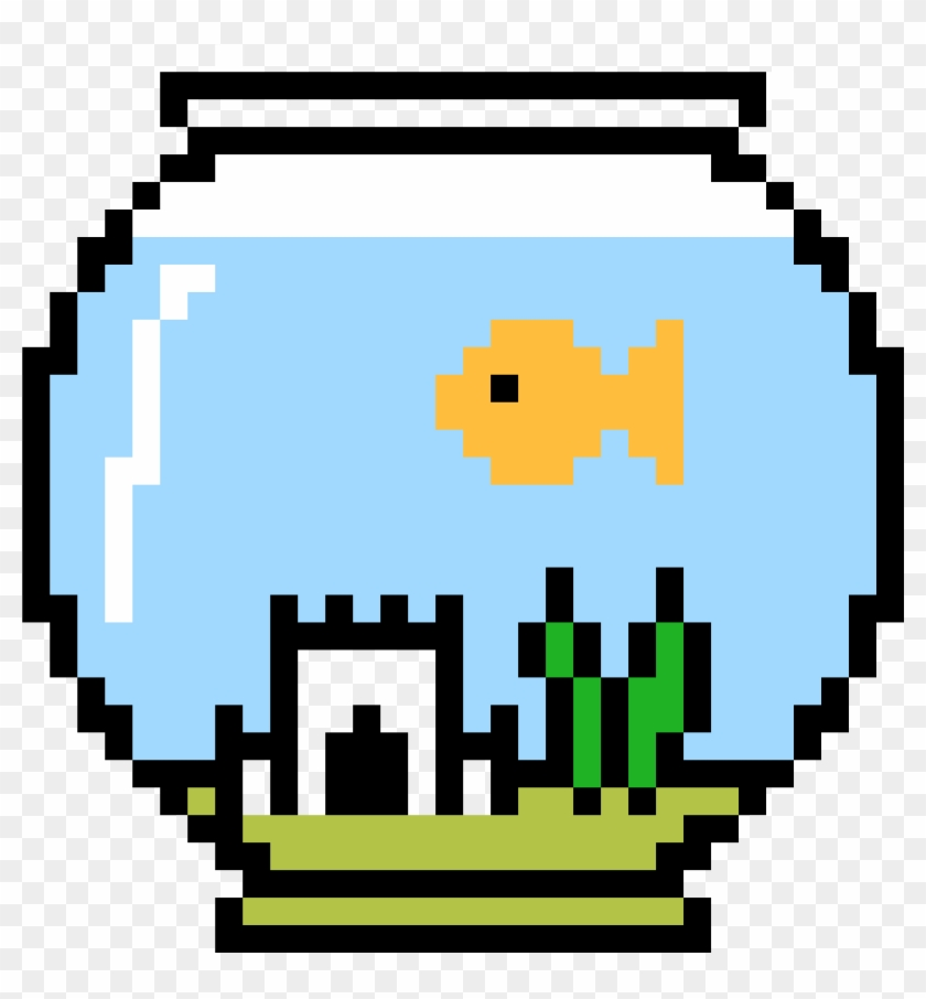 Fish Bowl With Larry Inside Minecraft Halloween Pixel Art Hd Png Download 4400x3700 1899872 Pngfind