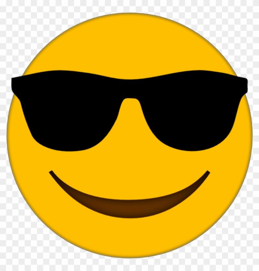 Emoji smiley face. Sunglasses clipart cool transparent