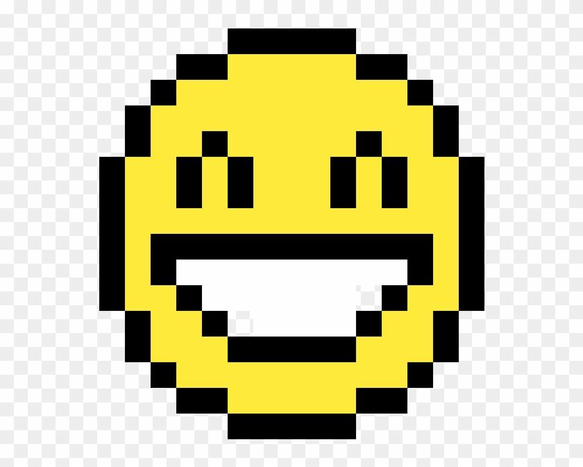 Super Happy Face Emoji Face Emoji En Pixel Hd Png Download