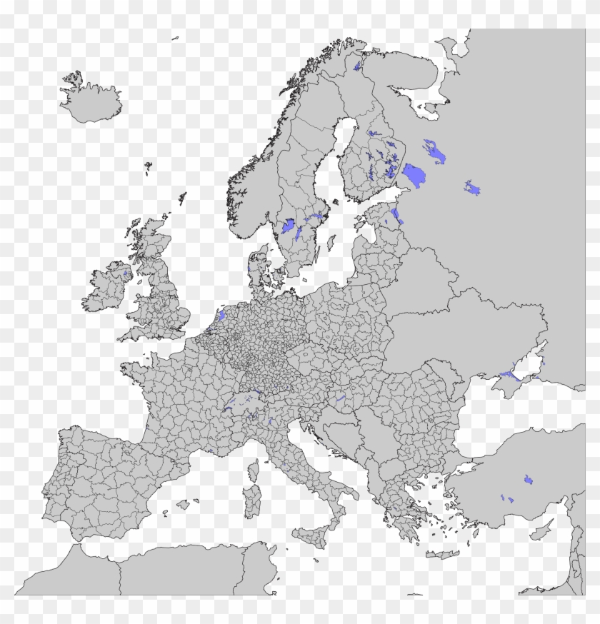 map of europe with subdivisions Open   Blank Map Of Europe Subdivisions, HD Png Download