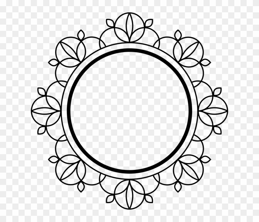 . Frame  Black  Art Deco  Decoration  Border  Design   Circle Decor