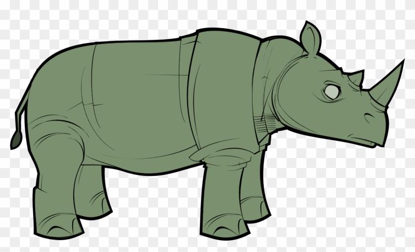 Rhino Clipart Real - Green Rhinoceros, HD Png Download - 1577x895