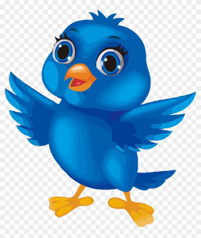 Birds cartoon. Blue bird image clipart
