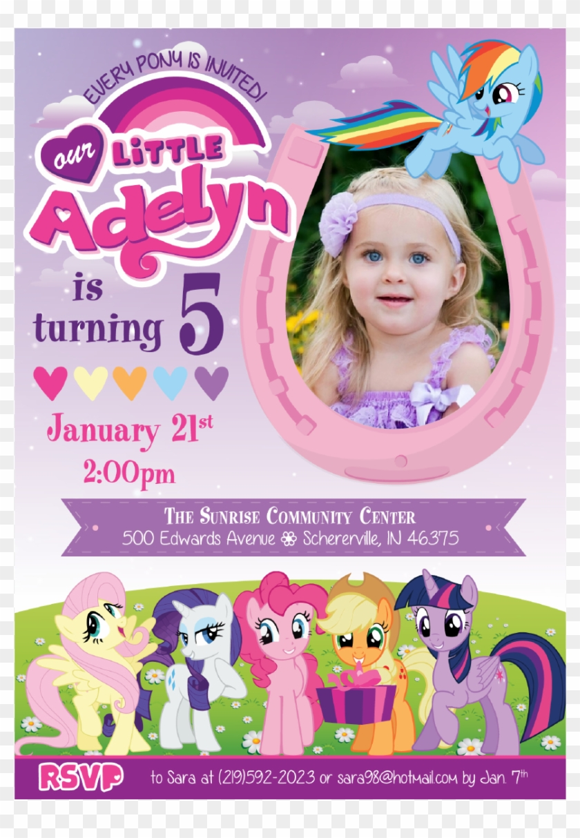 My Little Pony Birthday Invitations HD Png Download