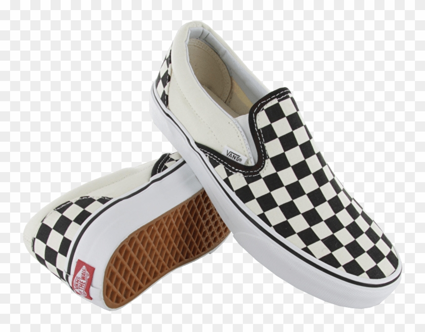 Transparent Vans Checkered , Checkerboard Slip Ons Png, Png