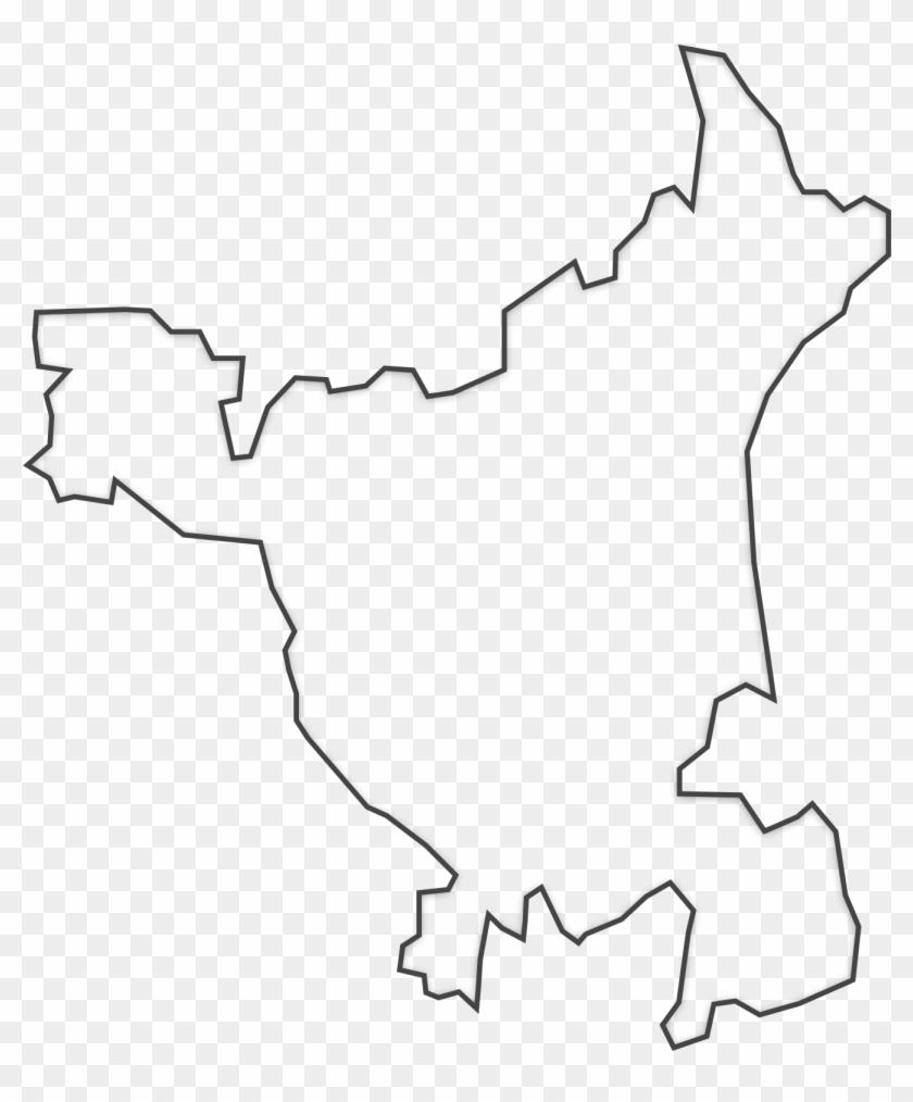 Haryana Map Png - Map, Transparent Png - 2400x1800(#1921559