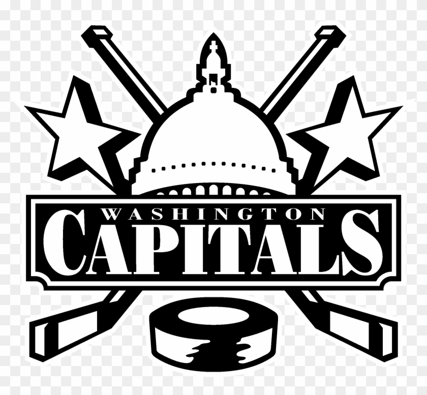 Washington Capitals Logo Black And White, HD Png Download