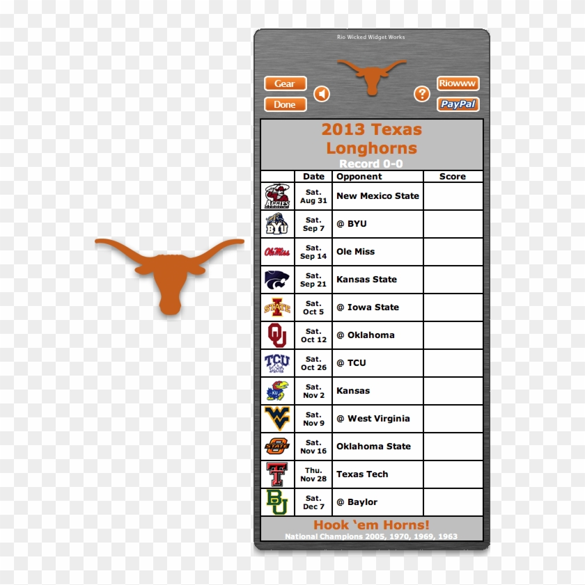 photo relating to Ohio State Football Schedule Printable named Acquire Your 2017 Texas Longhorns Soccer Routine Application - Osu