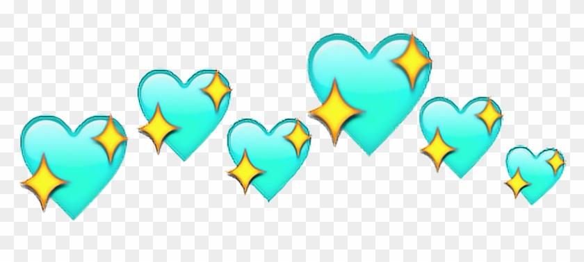 hearts - Picsart Heart Crown Emoji, HD Png Download - 1024x466
