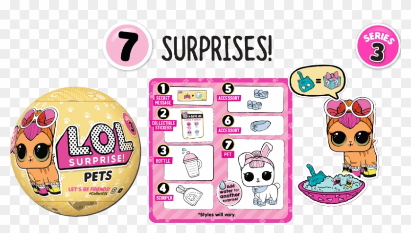 Lol Surprise Pets - Lol Surprise Series 4 Lil Sisters Pets Confetti