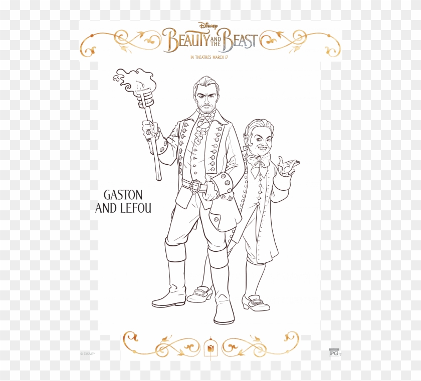 Beauty And The Beast Coloring Page Colouring Pages Beauty And The Beast The Movie Hd Png Download 559x724 1981276 Pngfind