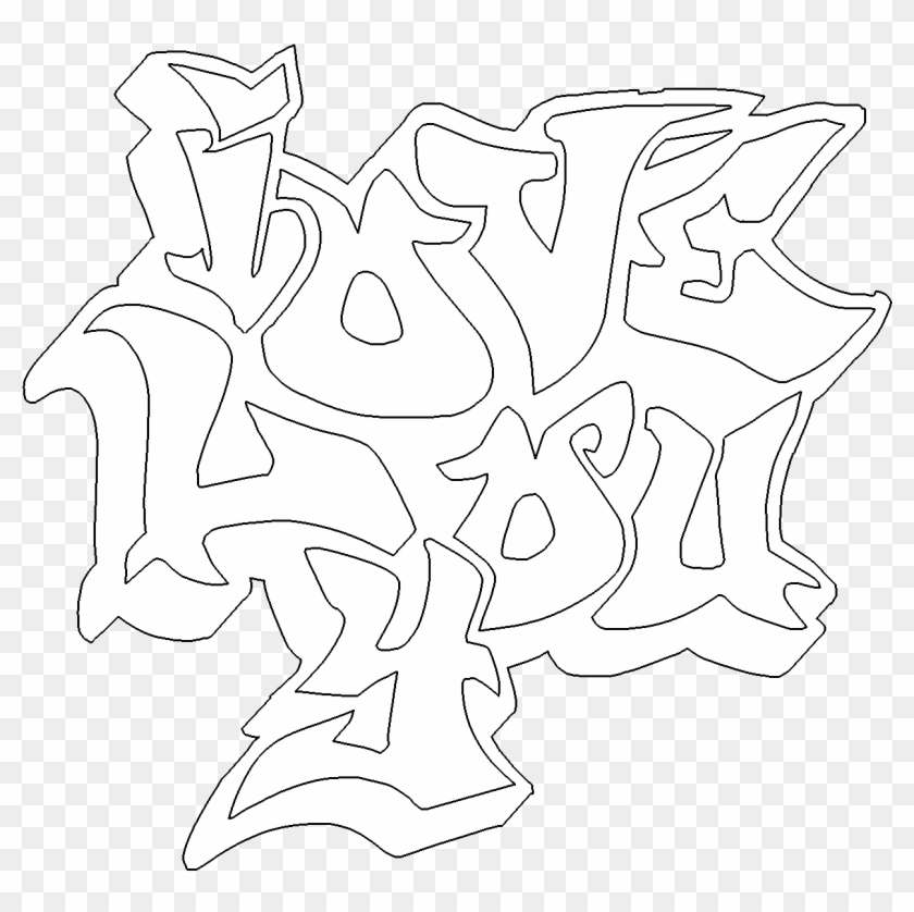 I Love You Graffiti Free Online Coloring Page Throughout, HD Png ...