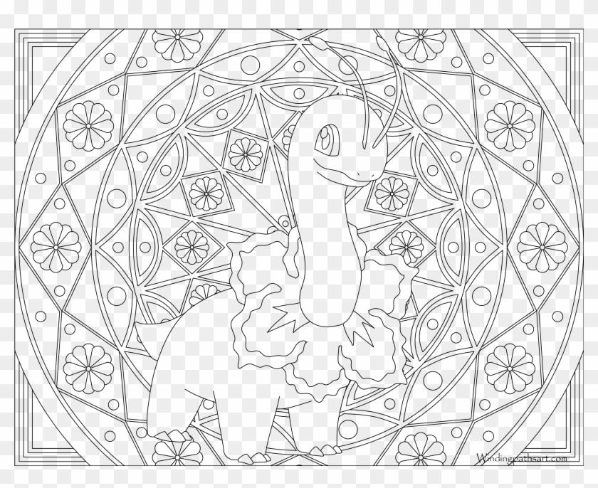 Adult Pokemon Coloring Page Meganium Mandalas Para Colorear De Pokemon Hd Png Download 3300x2550 1992495 Pngfind