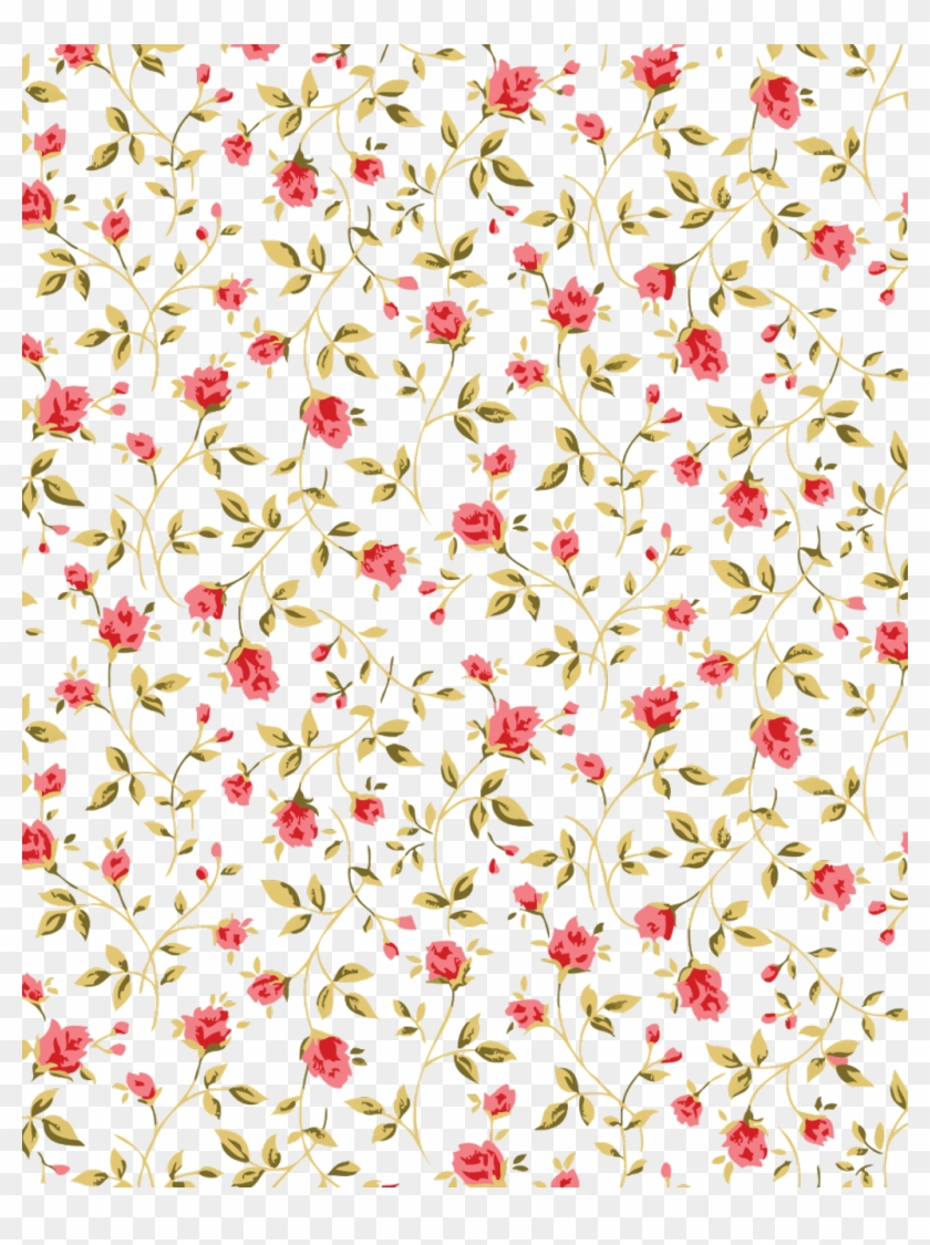 Transparent Flower Pattern Rosa Patron Flowers